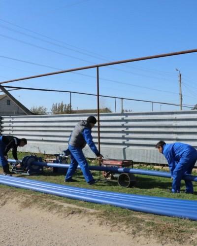 Впоселке Аршан ведутся строительно-монтажные работы по устройству централизованного водоснабжения