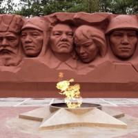 Мемориальный комплекс в честь героев гражданской и Великой Отечественной войн. Вечный огонь
