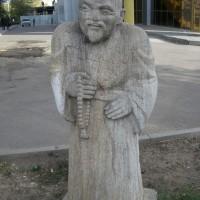 Скульптура «Странник монах»