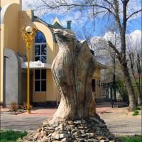 Скульптура «Тюльпан-верблюд»